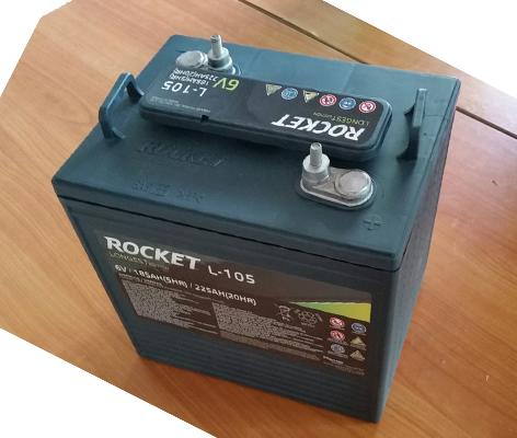ẮC QUY XE GOLF ROCKET L-105 (6V 225AH)